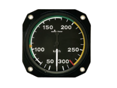 Color marking airspeed indicator (6000)