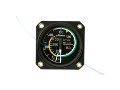 Airspeed Indicator 7FMS421 57mm kmh (7421)