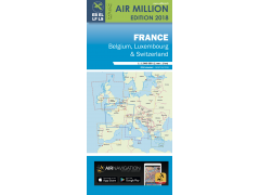 VFR CHART 2018 FRANCE, BELGIUM, LUX., SWITZ.