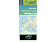 VFR CHART 2018 FRANCE, BELGIUM, LUX., CH. WEEKEND