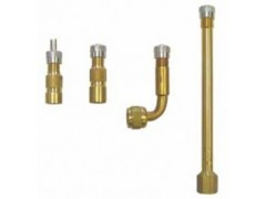 Tube valve extension (24mm, straight, short thread, cap with valve key)